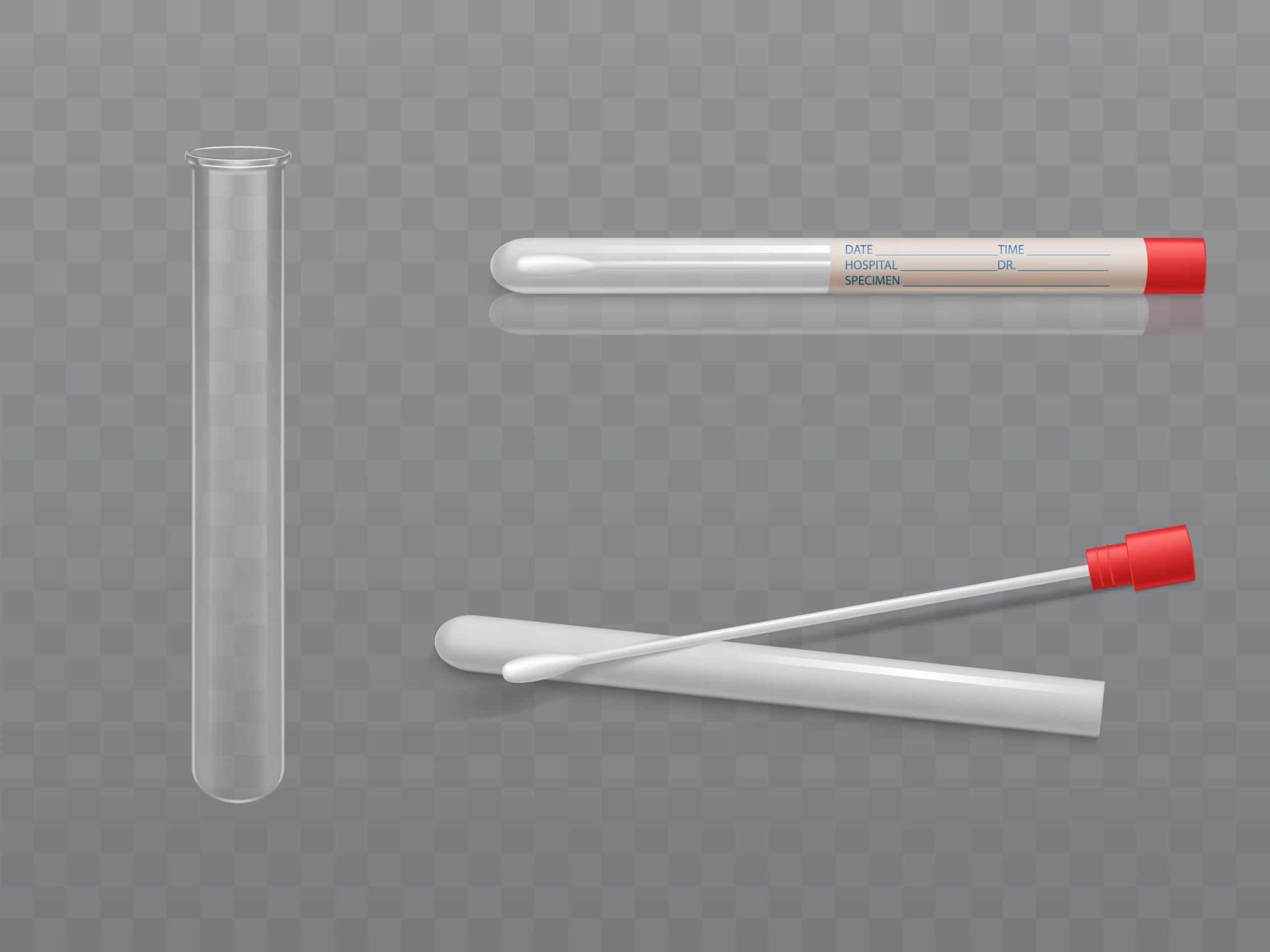 strumenti per effettuare un tampone: i bastoncini con cotone