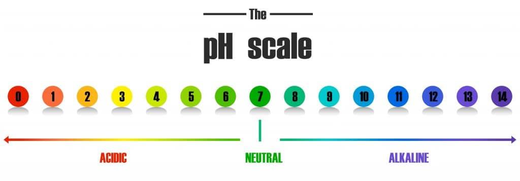 Rappresentazione della scala pH in un detergente intimo uomo candida