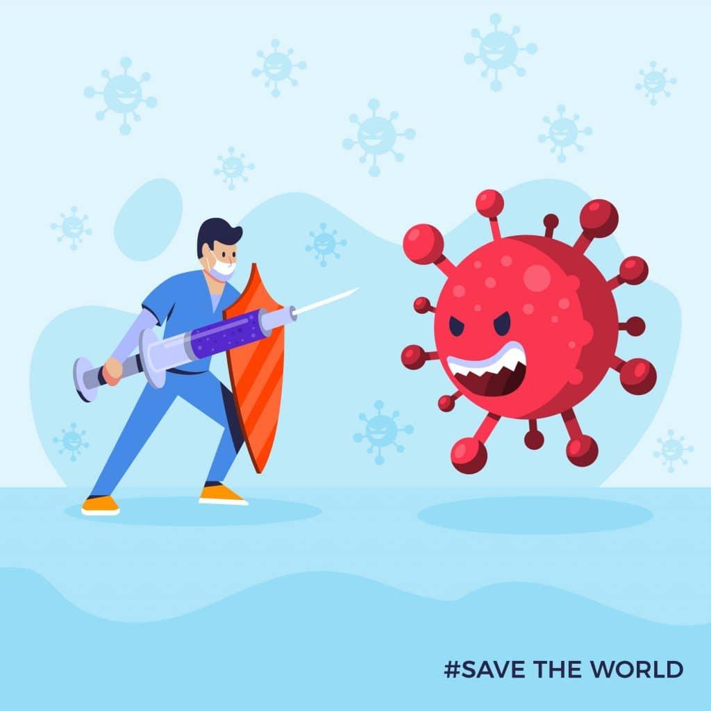 come funziona il vaccino astrazeneca - vaccino contro virus illustrazione
